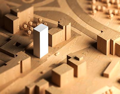 WOOD MODEL - CGI