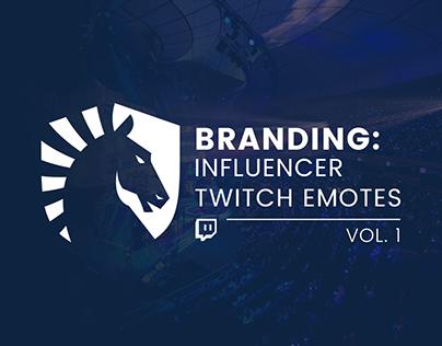 Branding: Twitch Influencer Emotes Vol. 1