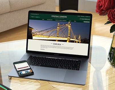 Central London Apartments (Web Design)