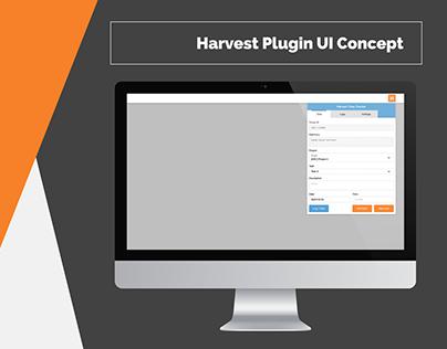 Harvest Plugin UI Concept