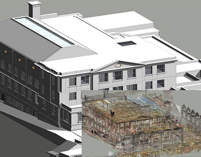 Converted Point Cloud Scan to 3D BIM Model in Revit