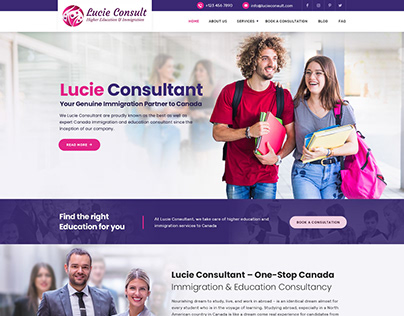 Student Immigration Web Template