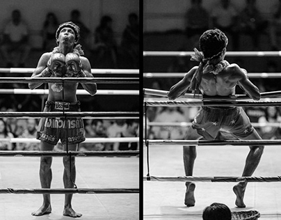 Muay Thai Boxing Black and White Photos