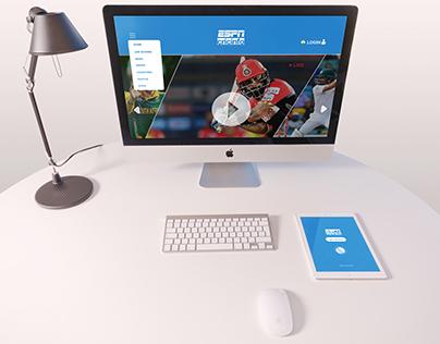 UI?UX design CRICINFO
