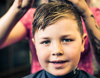 A 7 year old's Haircut.