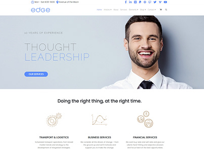 Home Front-Page Slider - Edge WordPress Theme