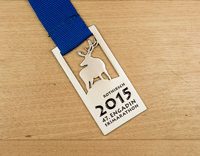 Engadin Skimarathon Medalliendesign