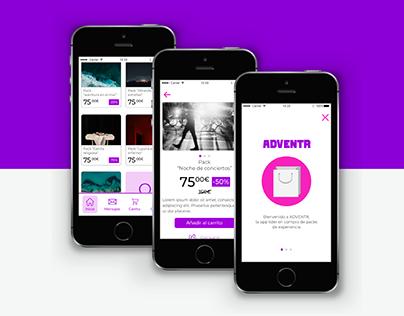 Adventr - Mobile Ecommerce UI