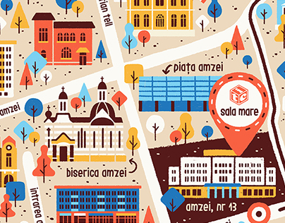 Amzei Map