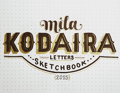 Lettering Sketchbook Lyrics | 2015