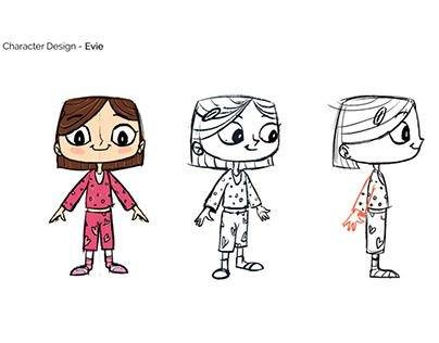 Storyboard and Character Designs for App Promo