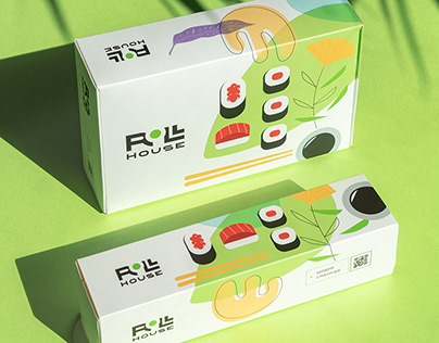 Roll house. Branding. Packaging