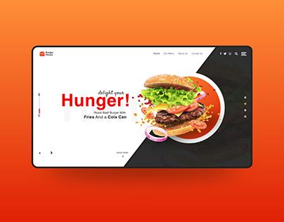 Burger House Website landing page.