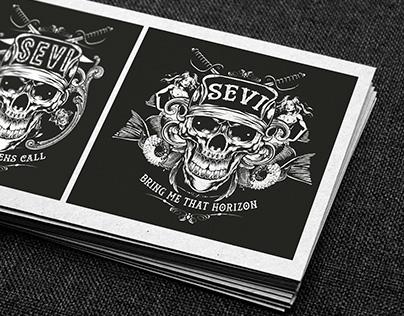 SEVI rock band - Logo and Hoody design