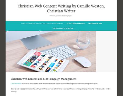 Christian Web Content Writing Web Design, Integrity144