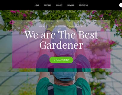 Gardener-Landing Page