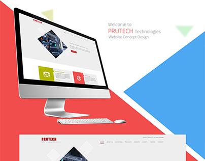 Prutech Website Concept