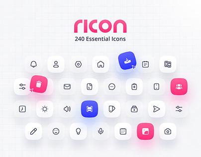 Ricon v.1 — 240 Essential Interface Icons