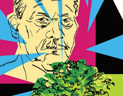 """My author's 3 posters """"Autumn salon """" Belgazprombank"""