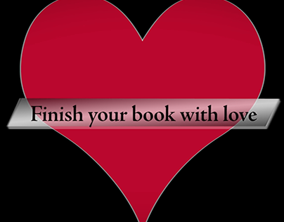 Finish your book with love (video)