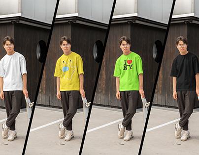 Skater T-Shirt Mockup | Free PSD Download