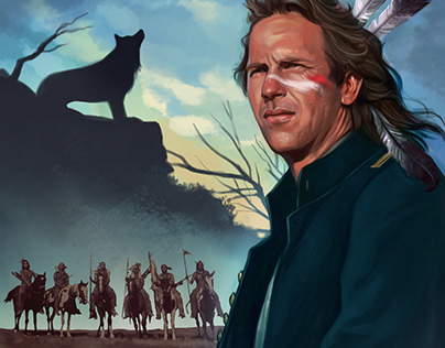 Dances with Wolves card illustration
