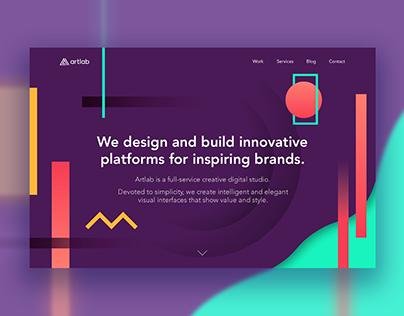 Artlab Studio - Landing Page