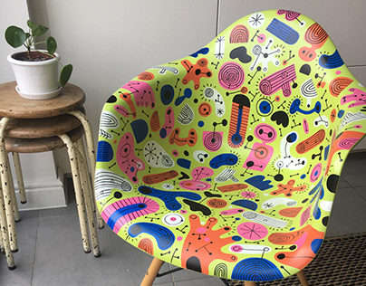 Eames (style) Chair Pattern
