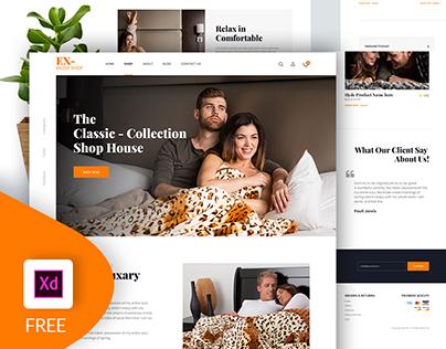 Freebie - Ecommerce Website Design (XD)