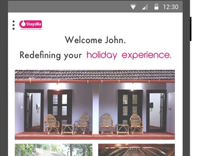 Stayzilla - homestay listing and details (Android OS)