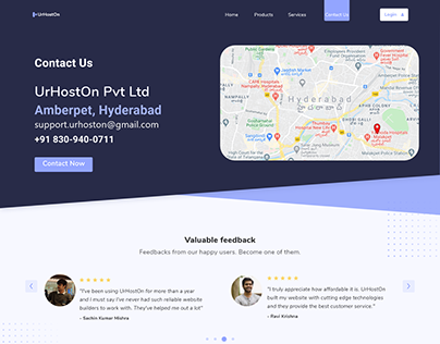 Landing Page and Contact Us Page Free Template