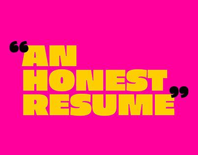 An Honest Resume : A Zine