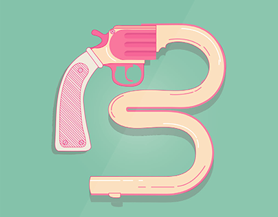 B is for Bang | Illustrated type