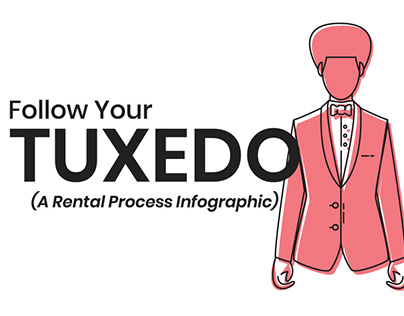 Follow Your Tuxedo | A Rental Process Infographic