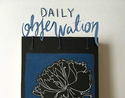 Daily Observation Sketchbook