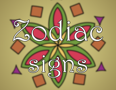 Zodiac signs characters
