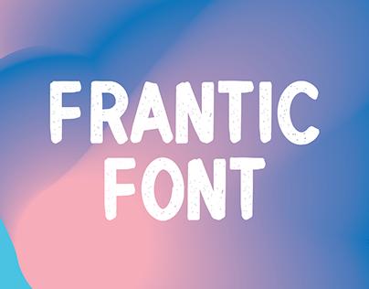 Frantic Font