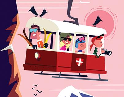 Ski and Apres-ski related illustrations