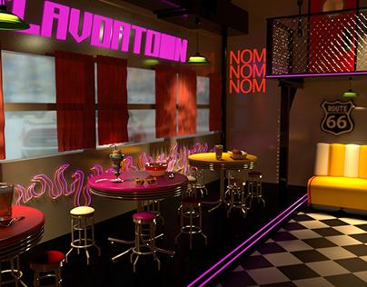 Guy Fieri inspired Diner/ Man Lounge