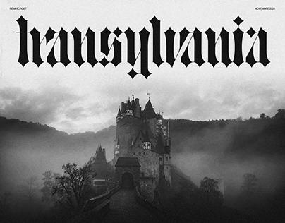 TYPEFACE : TRANSYLVANIA