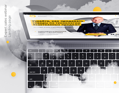 Expert sales school webinar - Landing page