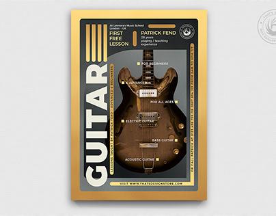 Guitar Lessons Flyer Template V5