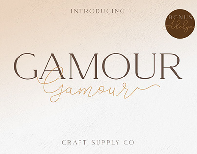 FREE | Gamour Elegant Serif