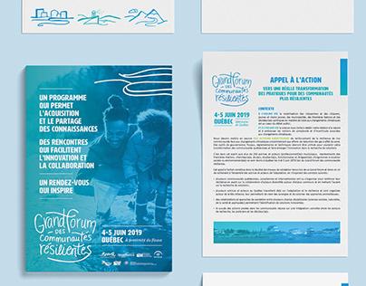 Grand forum des communautés résilientes – Branding
