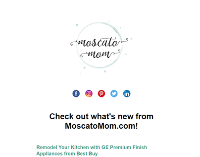 Moscato Newsletter Email Template Design