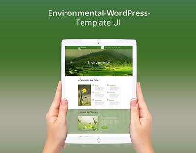 Environmental Web UI Concept PSD