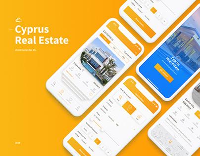 UI/UX Design iOs App for Cyprus Real Estate