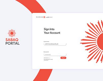 SABAQ Portal UI Designs