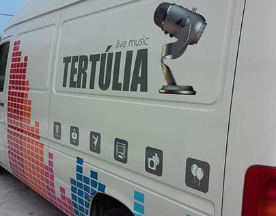 Decoration with vinyl - Tertulia Live Music van