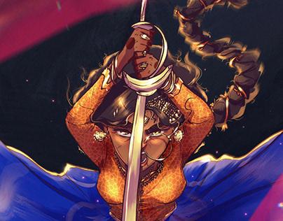 Brown Swordswoman